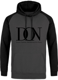 Mens Official Don Signature Cross-Fade Hoodie - Charcoal / Black / S - Homme>Sweatshirts