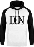 Mens Official Don Signature Cross-Fade Hoodie - Arctic White / Jet Black / S - Homme>Sweatshirts