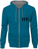 Official Don Signature Hoodie Two-Tone With Zip - Sapphire Blue / Heather Grey / S - Unisexe>Sweatshirts