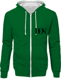 Official Don Signature Hoodie Two-Tone With Zip - Kelly Green / Arctic White / S - Unisexe>Sweatshirts