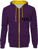 Official Don Signature Hoodie Two-Tone With Zip - Purple / Sun Yellow / S - Unisexe>Sweatshirts