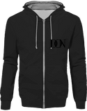 Official Don Signature Hoodie Two-Tone With Zip - Jet Black / Heather Grey / S - Unisexe>Sweatshirts