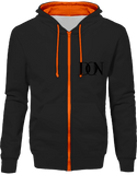 Official Don Signature Hoodie Two-Tone With Zip - Jet Black / Orange Crush / S - Unisexe>Sweatshirts