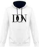 Hoodie Two-Mens Official Don Signature Plain Two-Tone Hoodie - Arctic White / French Navy / S - Unisexe>Sweatshirts
