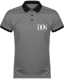 Mens Official Don Polo Piqué Signature Polo-Shirt - Sporty Grey / Black / Xs - Homme>Vêtements De Sport