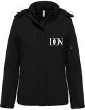 Womens Official Don Signature Softshell Lined Parka - Black / Xs - Femme>Vestes & Manteaux