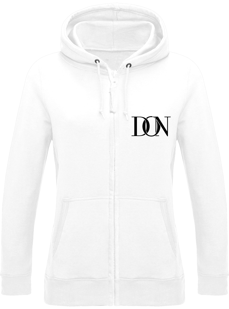 Womens Official Don Signature Zipped Hoodie - Arctic White / Xs - Femme>Sweatshirts