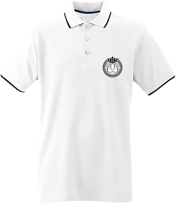 Mens Official Don Lions Pride Polo-Shirt - White / Navy / White / S - Homme>Polos