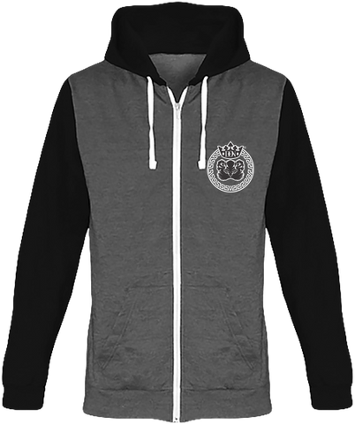 Mens Official Don Lions Pride Two-Tone Fade Hoodie - Charcoal Grey / Jet Black / Xs - Homme>Sweatshirts