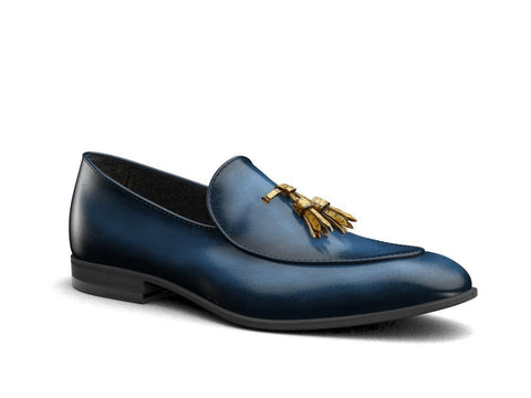 Claudio X Don Antelope Leather With Crocodile Tassel - Shoes