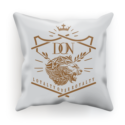 Dim Gray Loyalty Over Royalty Sublimation Cushion Cover