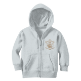 Light Gray Loyalty Over Royalty Classic Kids Zip Hoodie