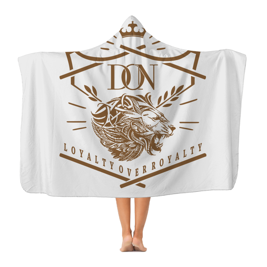 Dim Gray Loyalty Over Royalty Classic Adult Hooded Blanket