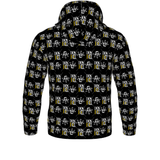 Black Official DON Men's Gold Print Hoodie