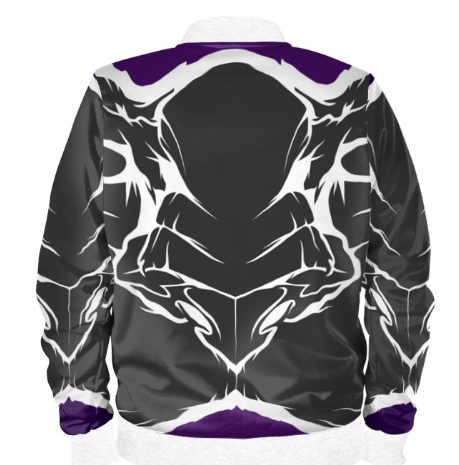 Mens Official Don Purple&white Wealth Soft-Shell Satin Jacket