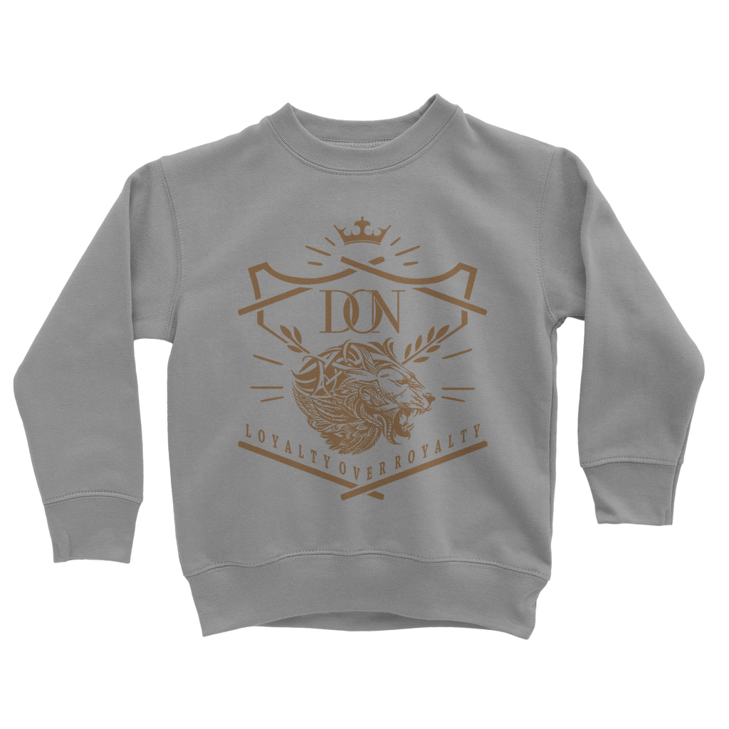 Slate Gray Loyalty Over Royalty Classic Kids Sweatshirt