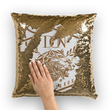 Dim Gray Loyalty Over Royalty Sequin Cushion Cover
