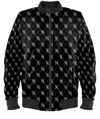 Black Men's Official DON Signature Print Bomber Jacket