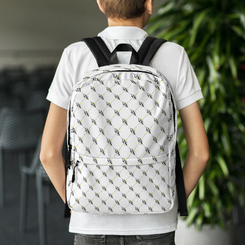Official DON Signature White Print Backpack