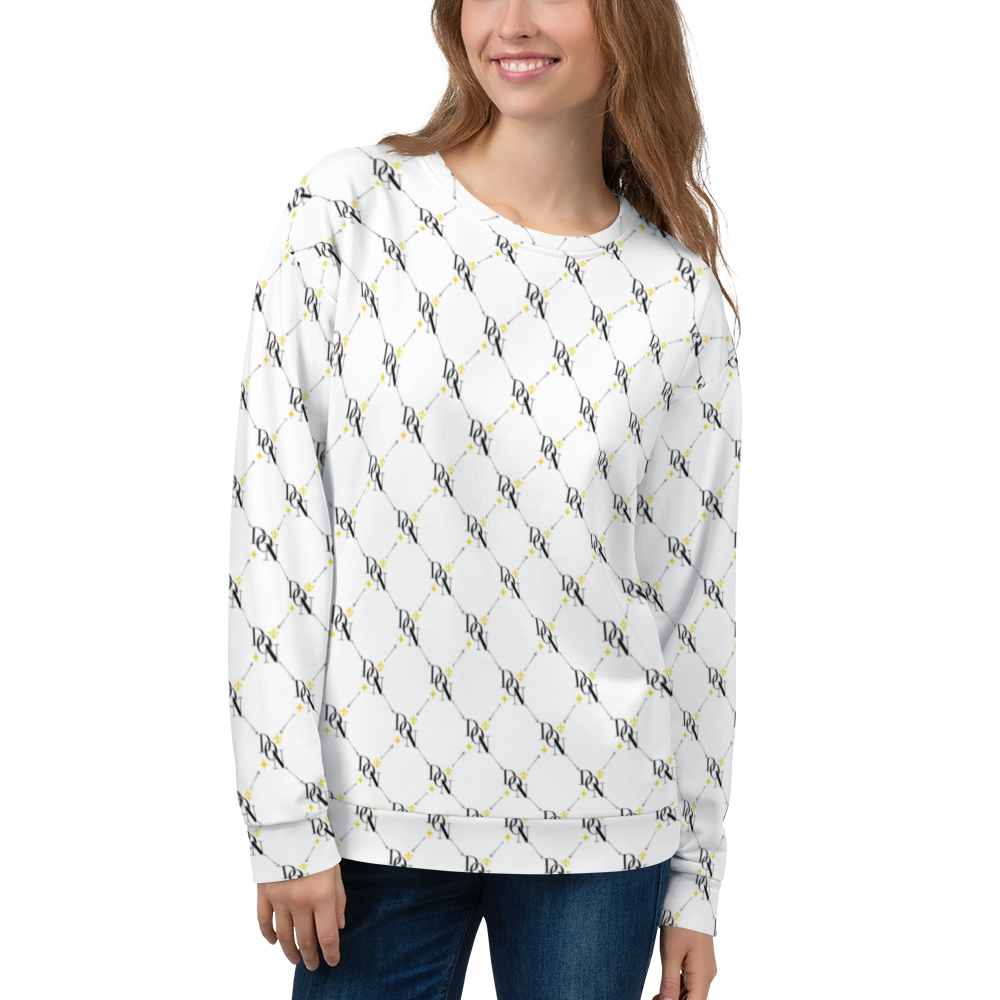 Official DON Women's Signature White Print Sweater