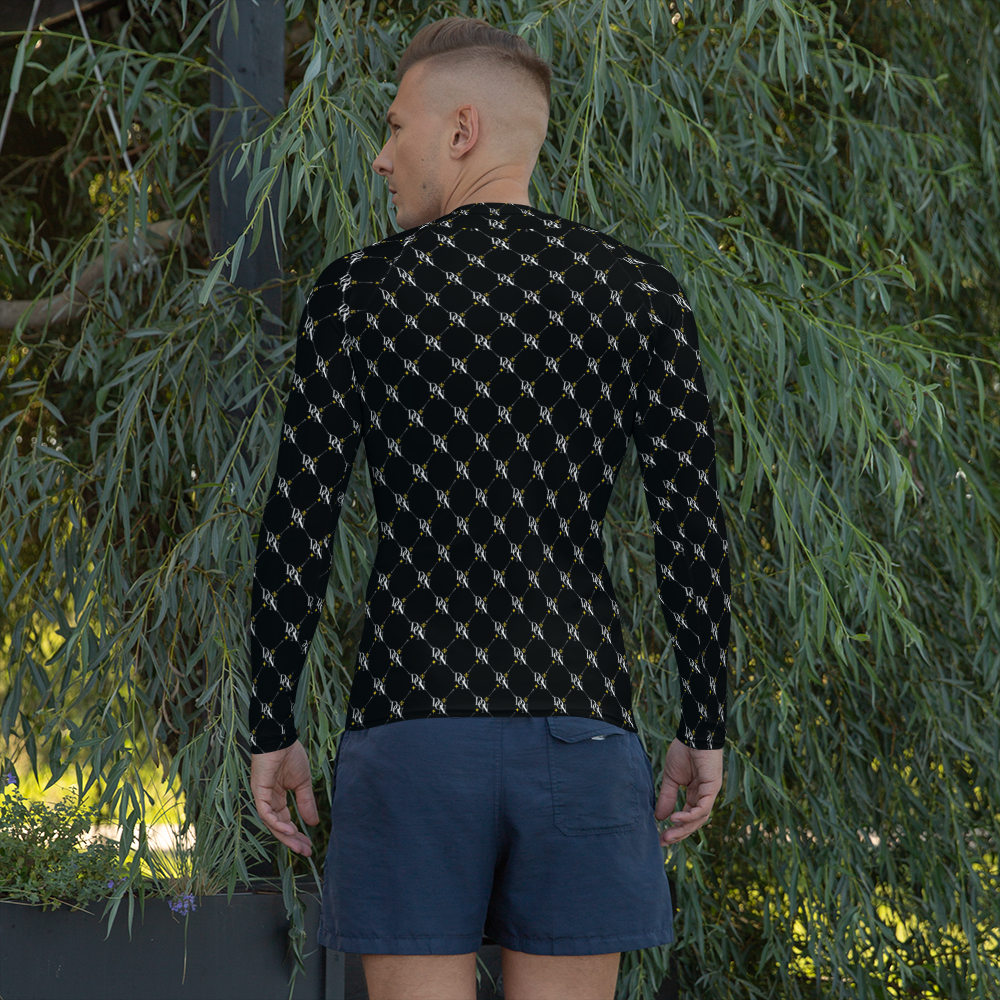Black Men's Official DON Patterned Signature Rash Guard