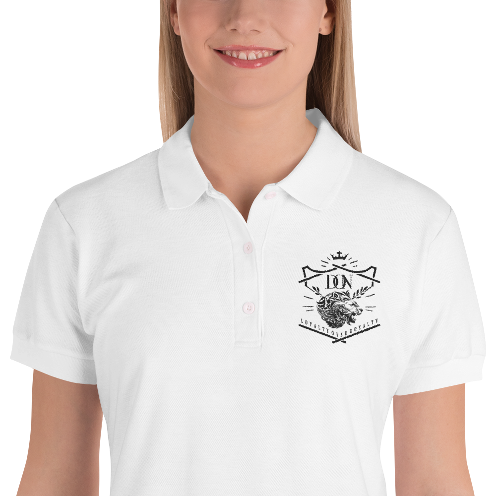 Womens Embroidered Loyalty Over Royalty Polo-Shirt - S