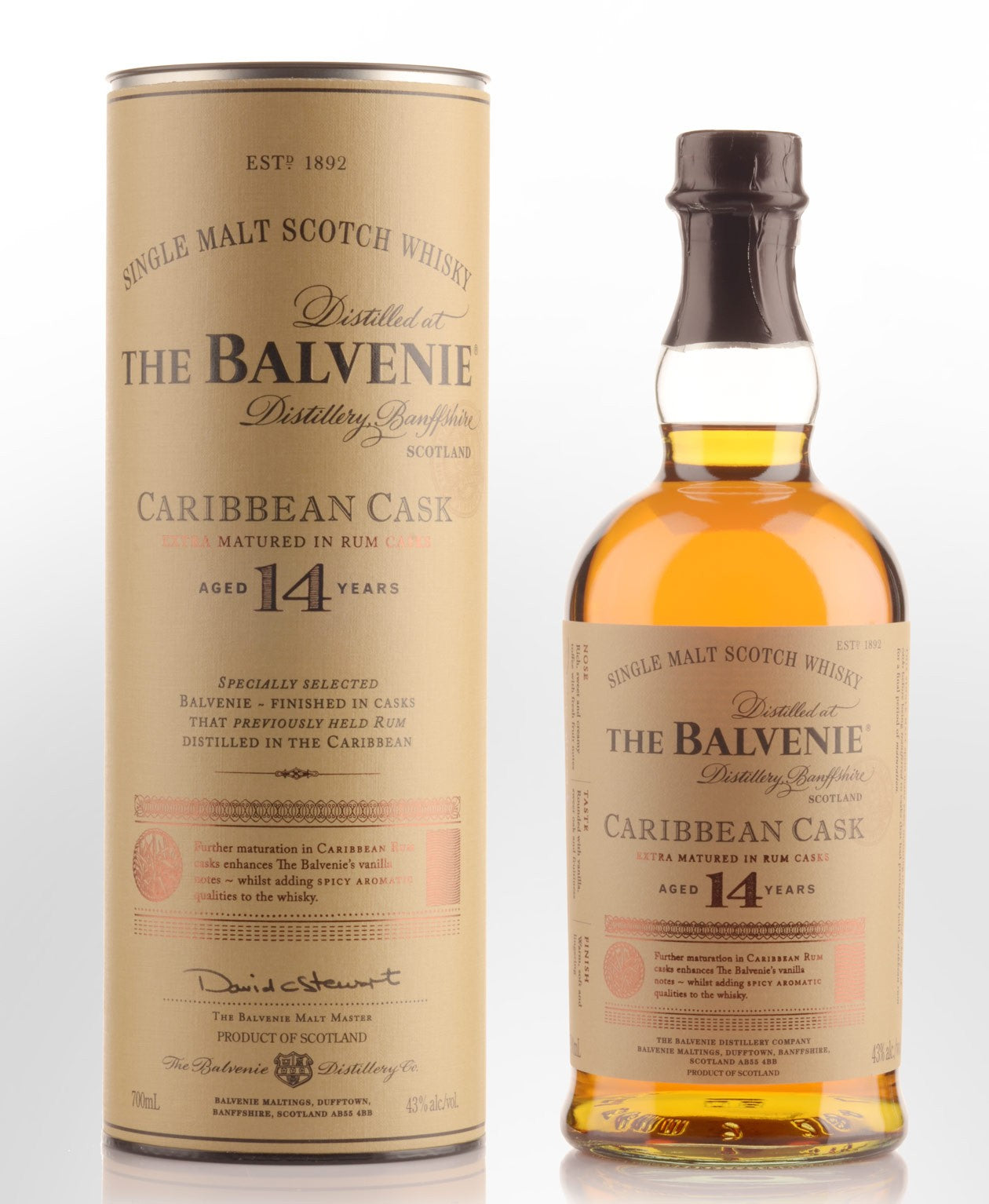 Balvenie Caribbean Cask 14 Year Old Scotch Whisky