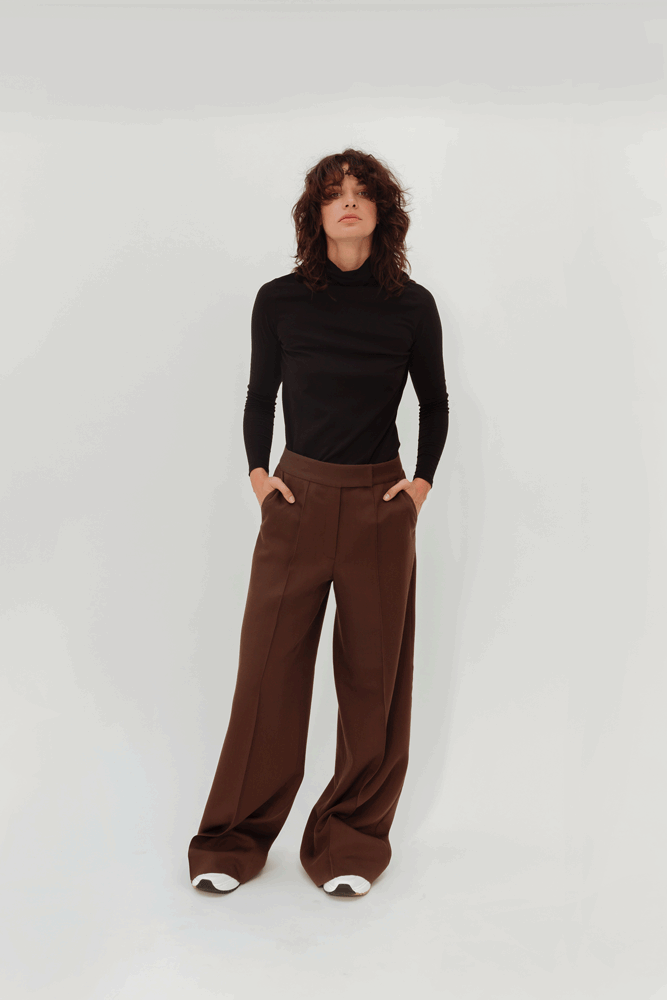 LORO PIANA WOOL TROUSERS