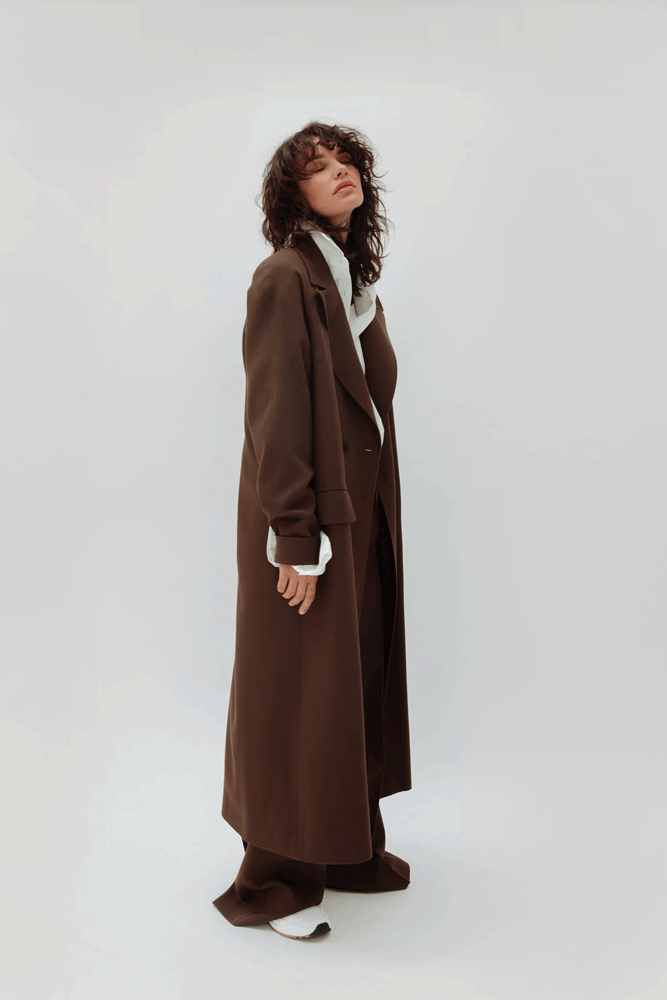CARAMEL WOOL COAT