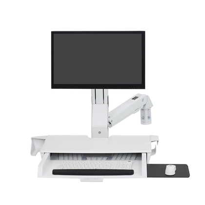 SV Sit-Stand Combo Arm, With Pan, Bright White Texture - var deals