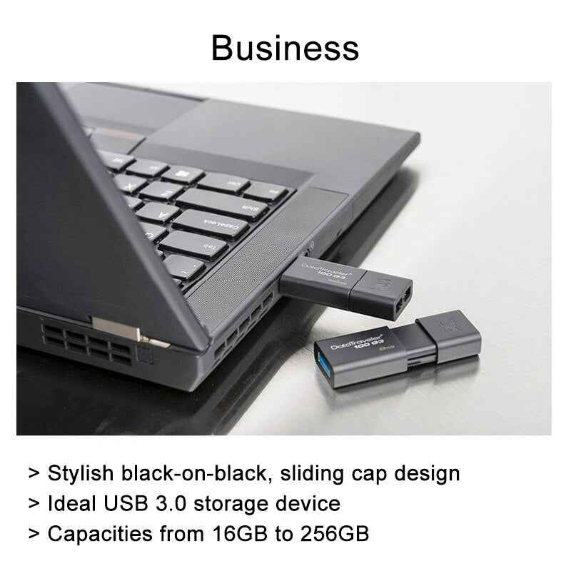 Kingston USB Flash Drives 8GB 16GB 32GB 64GB 128GB USB 3.0 Pen Drive high speed PenDrives DT100G3 - var deals