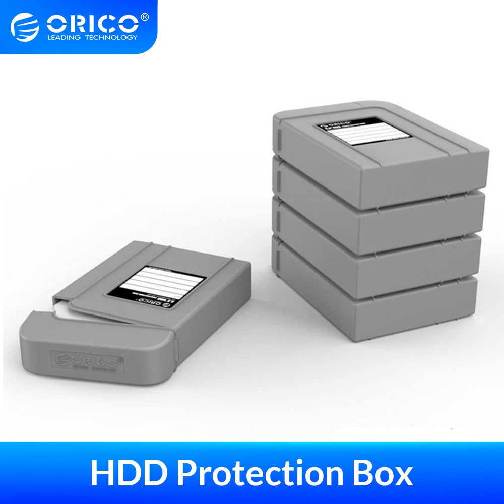 ORICO 5Pcs Hard Drive Protection Box Anti-Stati Multi-disk Storage HDD protect for 3.5 inch HDD - var deals
