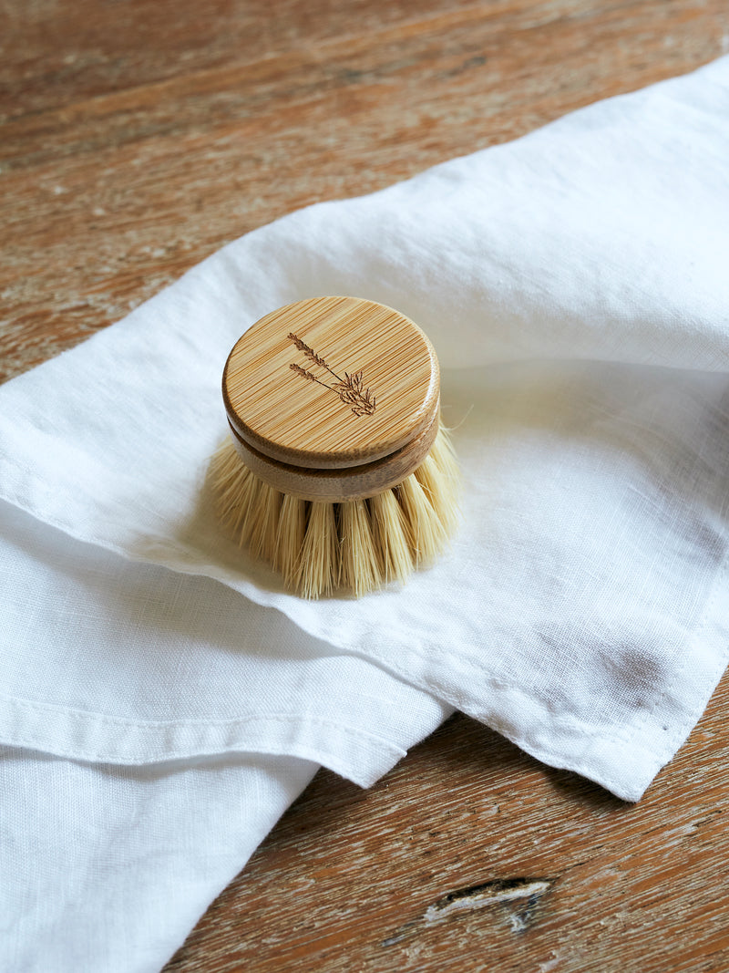Bamboo Dish Brush Replacement Head with Sisal Bristles