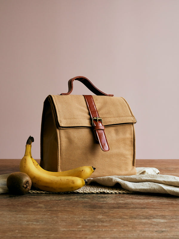 Organic Cotton Insulated Lunch Cooler Bag