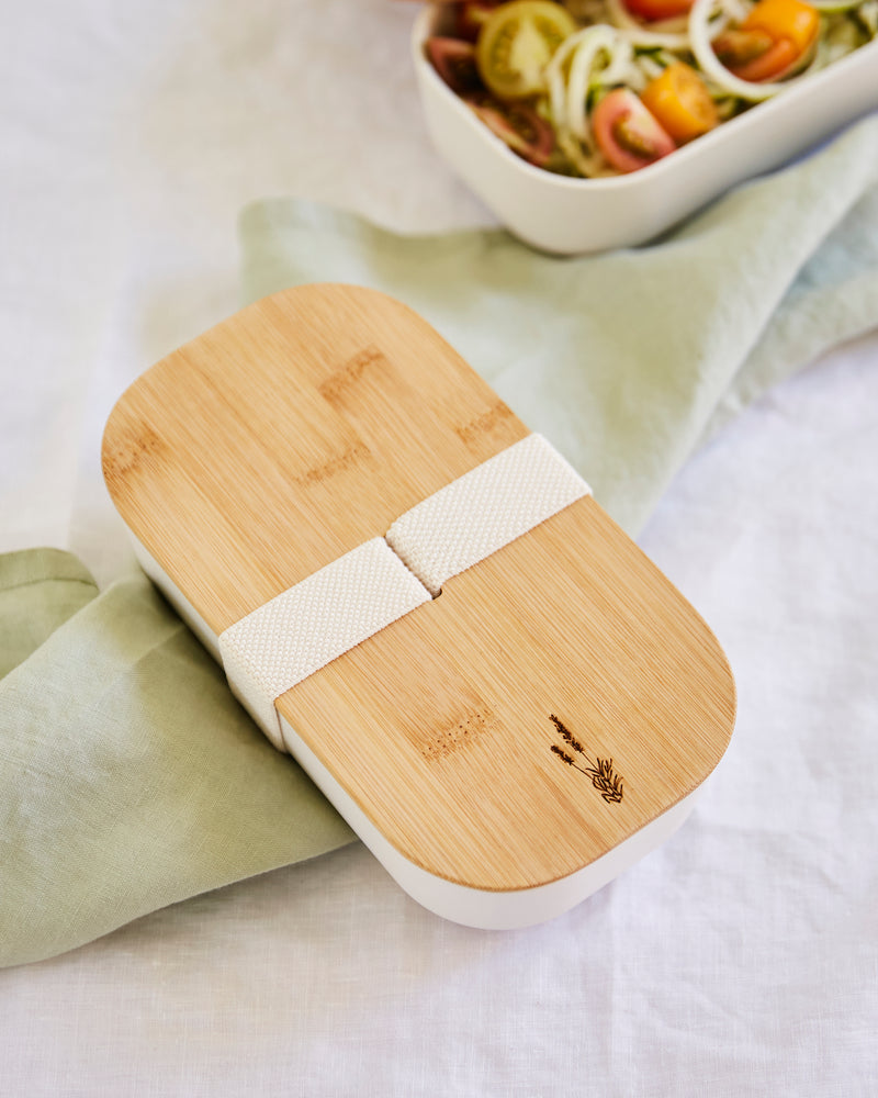 Bamboo Lunch Box with Elastic Strap