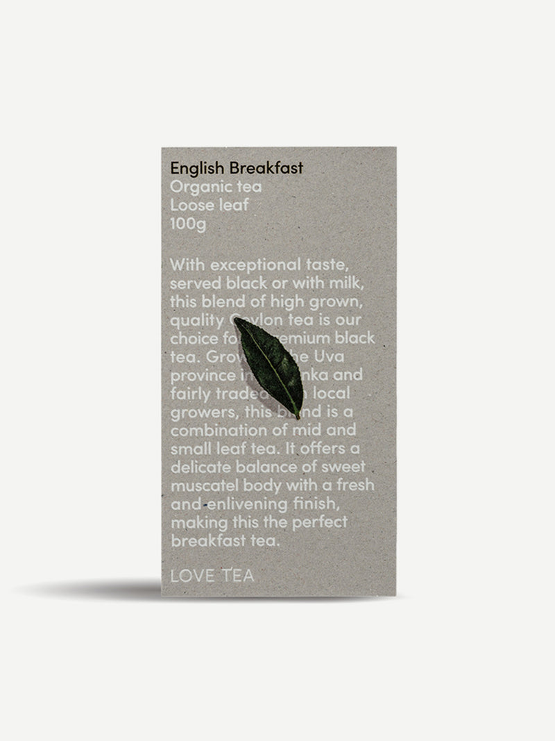 LOVE TEA English Breakfast Loose Leaf Box 100g