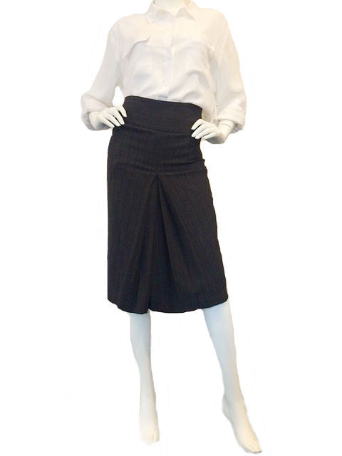 High Waist Medium Grey Skirt