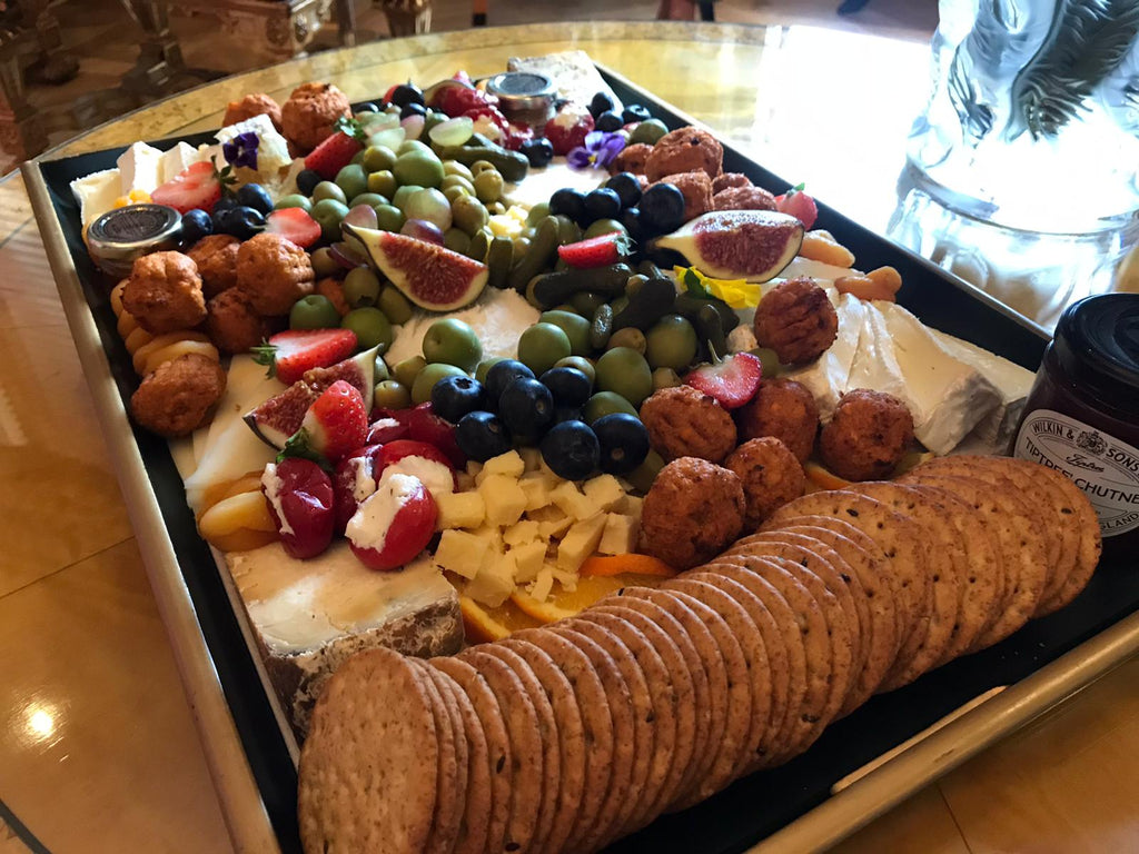 2021 party idea trending item grazing platter to share food and snacks for your next birthday celebration.
