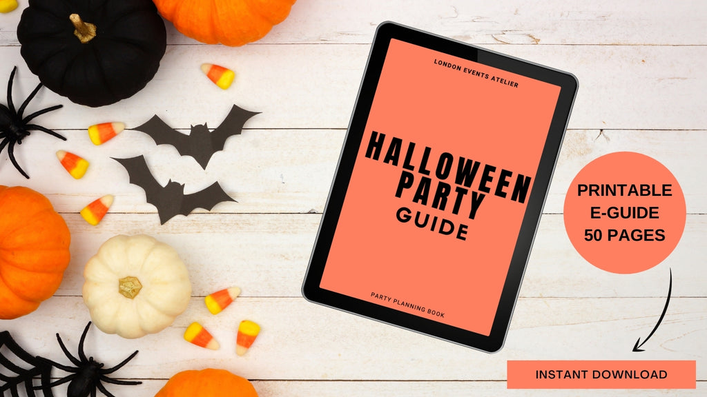 Halloween party guide with hundreds of halloween party ideas, games and activities, halloween party menu food and drinks, halloween costume ideas for toddles, kids and adults, Halloween-themed party games.