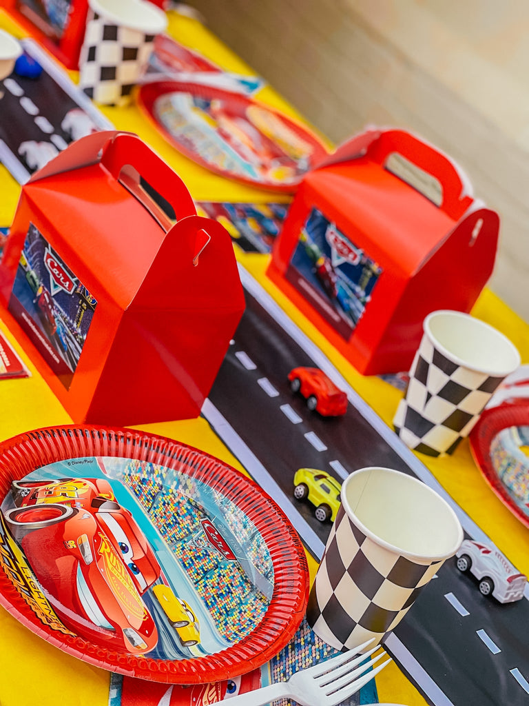 Disney Cars themed kids birthday party table