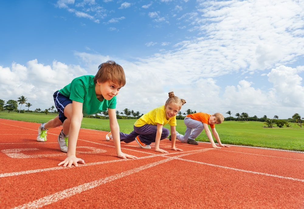 Relay race - kids birthday party best outdoor games and activities.