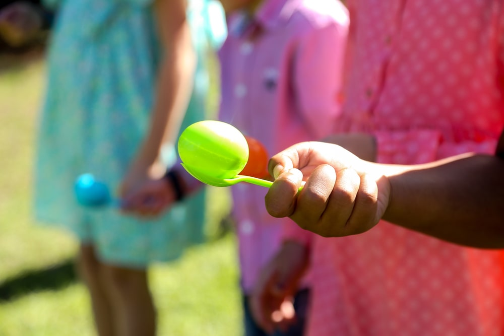 Egg in the spoon - children's birthday party best games and activities for birthday party celebration