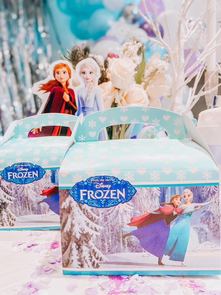 Disney Frozen party bag fillers and favours for pre-filled frozen party bag toys, sweets, stationary set, pencils, puzzle book, activity book, colouring book, pinball game, rubic cube, favours and fillers.