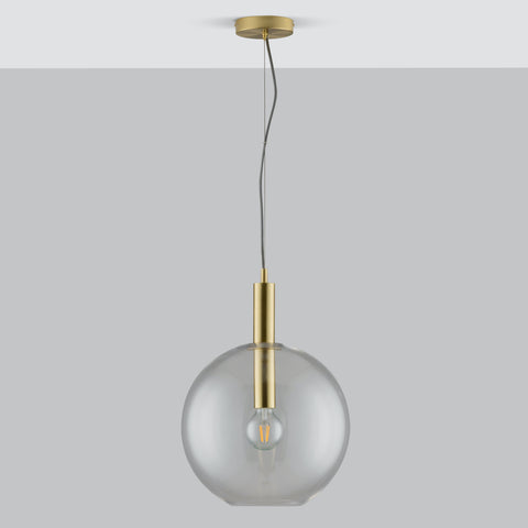Mabel Home and Lighting - Beautifully designed contemporary lighting. Montpelier ceiling light is an iconic mid century design ceiling light, with a statement champagne glass shade giving a warm glow. Featuring a metal tube detailing through the centre of the shade, making it the perfect pendant light.
