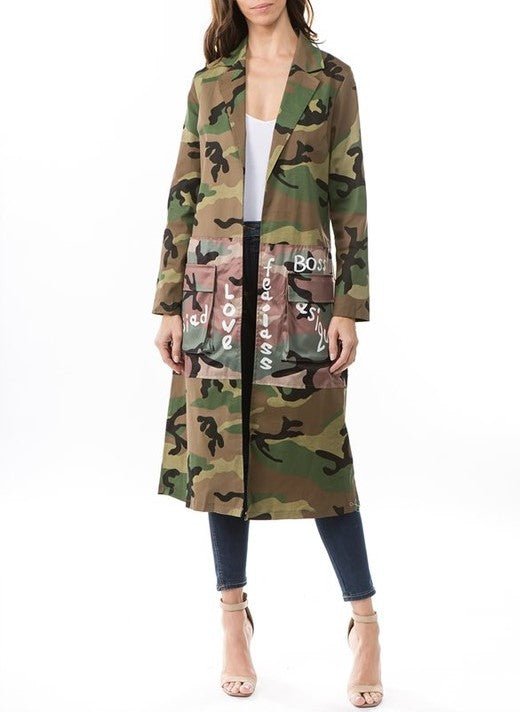 Her Aura Boutique There Is Nothing Like A Sistah Camouflage Jacket