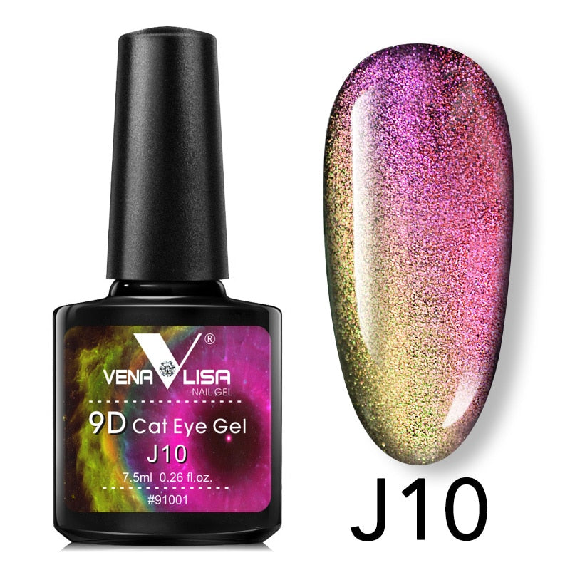 New Nail Art Design Manicure Venalisa 7.5Ml Soak Off Enamel 9d cat eyes magnetic Gel Polish UV Gel Nail Polish Lacquer Varnish