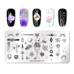 Load image into Gallery viewer, NICOLE DIARY Lace Flower Animal Nail Stamping Plates Marble Image Stamp Templates Geometric  Printing Stencil Tools