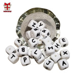 Load image into Gallery viewer, BOBO.BOX 10Pcs Silicone English Alphabet Beads Letter BPA Free Material For DIY Baby Teething Necklace Baby Teether