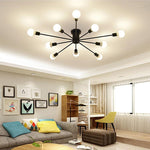 Load image into Gallery viewer, Retro Iron Chandelier Black/White 6/8/10 Sockets Lighting Vintage Spider Chandelier Modern Ceiling Lamp Light Fixture  Lighting