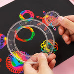 Load image into Gallery viewer, Spirograph Drawing Toys Set Interlocking Gears Wheels Painting Drawing Accessories Creative Educational Toy Spirographs GYH